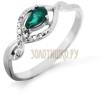 Кольцо с изумрудом и бриллиантами Т301016508_2
