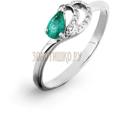 Кольцо с изумрудом и бриллиантами Т301016509_3