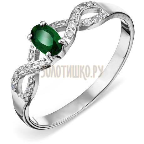 Кольцо с изумрудом и бриллиантами Т301016512_3
