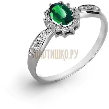 Кольцо с изумрудом и бриллиантами Т301017050_3