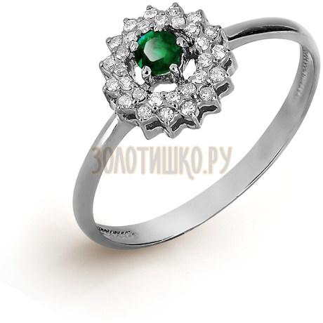 Кольцо с изумрудом и бриллиантами Т301017051_3