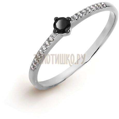 Кольцо с бриллиантом и Swarovski Zirconia Т301017121-01