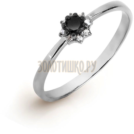 Кольцо с бриллиантом и Swarovski Zirconia Т301017122-01
