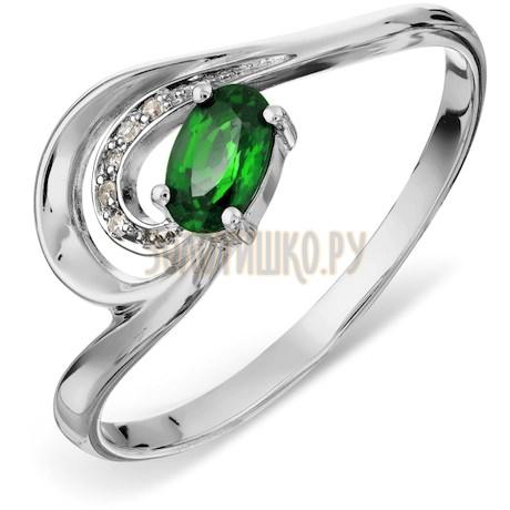 Кольцо с изумрудом и бриллиантами Т301017218