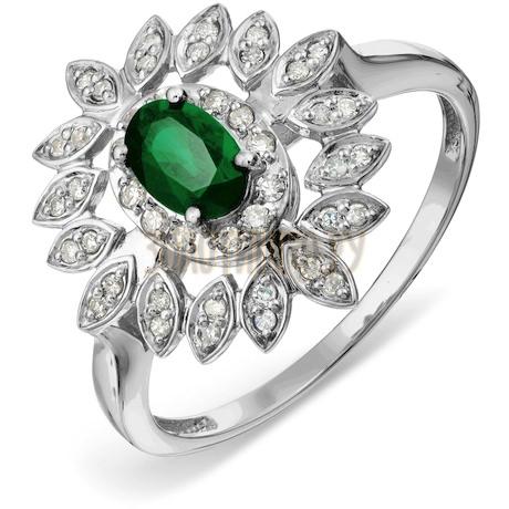 Кольцо с изумрудом и бриллиантами Т301017796_2