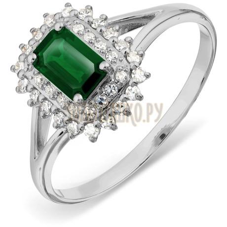 Кольцо с изумрудом и бриллиантами Т301017798_2