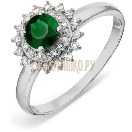 Кольцо с изумрудом и бриллиантами Т301017800_2
