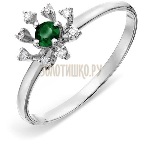 Кольцо с изумрудом и бриллиантами Т301018061_2