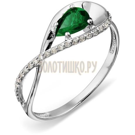 Кольцо с изумрудом и бриллиантами Т301018206