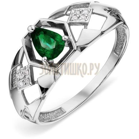 Кольцо с изумрудом и бриллиантами Т301018449_2