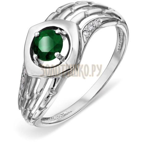 Кольцо с изумрудом и бриллиантами Т301018452
