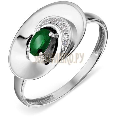 Кольцо с изумрудом и бриллиантами Т301018746