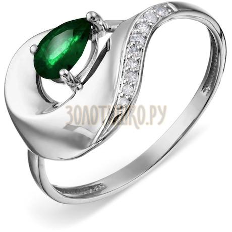 Кольцо с изумрудом и бриллиантами Т301018748_2