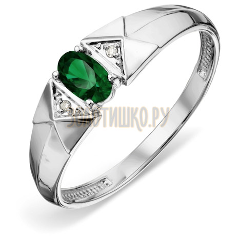 Кольцо с изумрудом и бриллиантами Т301018806_2