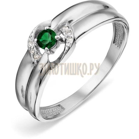 Кольцо с изумрудом и бриллиантами Т301018808_3