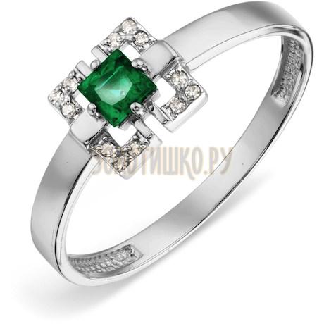 Кольцо с изумрудом и бриллиантами Т301018856_3