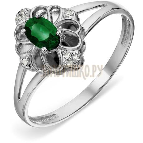 Кольцо с изумрудом и бриллиантами Т301018976_3