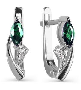 Серьги с изумрудами и бриллиантами Т301021130_3