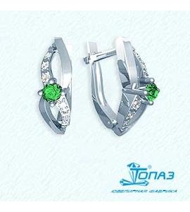 Серьги с изумрудами и бриллиантами Т301021635_2