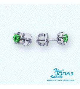 Серьги с изумрудами и бриллиантами Т301021699_2