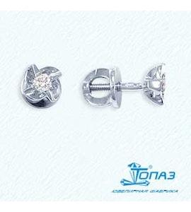 Серьги с бриллиантами Т301021711