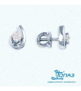 Серьги с бриллиантами Т301021727