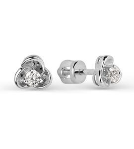 Серьги с бриллиантами Т301021730