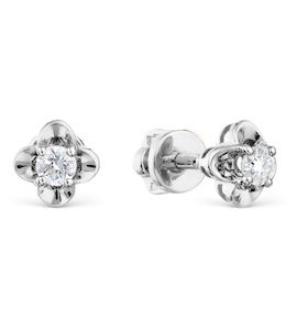 Серьги с бриллиантами Т301021757