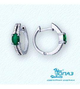 Серьги с изумрудами и бриллиантами Т301021844_3