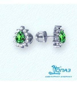 Серьги с изумрудами и бриллиантами Т301021930_2