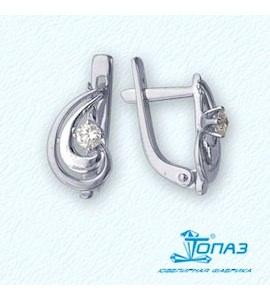 Серьги с бриллиантами Т301021936