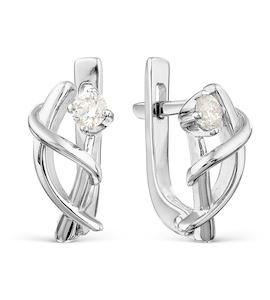 Серьги с бриллиантами Т301021950