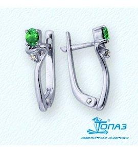 Серьги с изумрудами и бриллиантами Т301021959