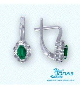 Серьги с изумрудами и бриллиантами Т301022011_3