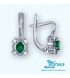 Серьги с изумрудами и бриллиантами Т301022013