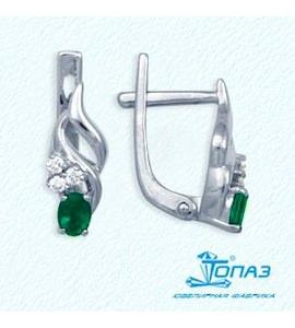 Серьги с изумрудами и бриллиантами Т301022017