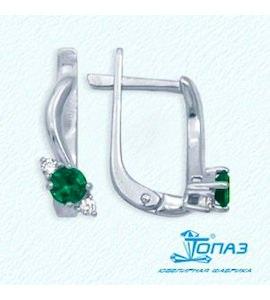 Серьги с изумрудами и бриллиантами Т301022021_2