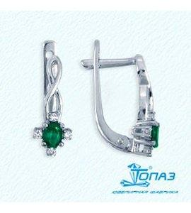 Серьги с изумрудами и бриллиантами Т301022025