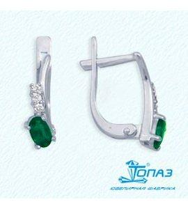 Серьги с изумрудами и бриллиантами Т301022154_3