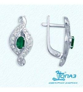 Серьги с изумрудами и бриллиантами Т301022155_3