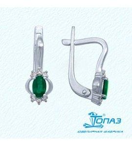 Серьги с изумрудами и бриллиантами Т301022160