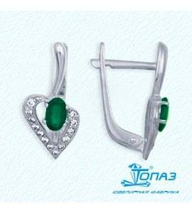 Серьги с изумрудами и бриллиантами Т301022163_2