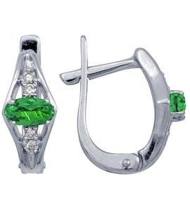 Серьги с изумрудами и бриллиантами Т301022165_3
