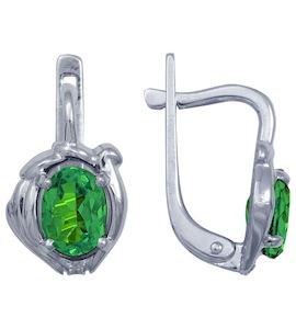 Серьги с изумрудами и бриллиантами Т301022603_3