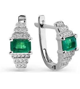 Серьги с изумрудами и бриллиантами Т301025651_3