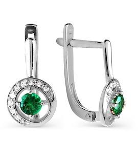 Серьги с изумрудами и бриллиантами Т301026000_3