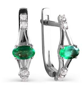 Серьги с изумрудами и бриллиантами Т301026081_2