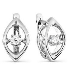 Серьги с бриллиантами Т301027058