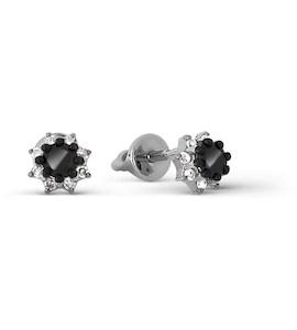 Серьги с бриллиантами и Swarovski Zirconia Т301027252-01