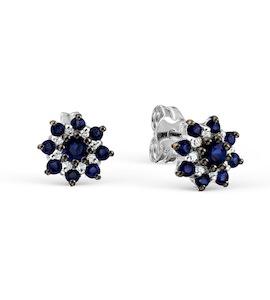 Серьги с изумрудами и бриллиантами Т301027876